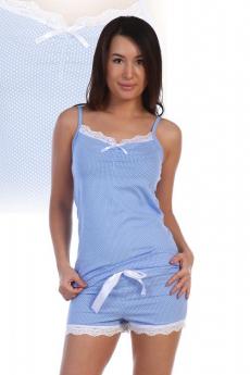 Летняя голубая пижама Милана