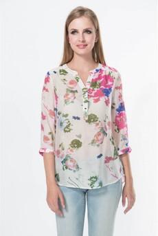Блузка из штапеля с поясом-шнурком Marimay