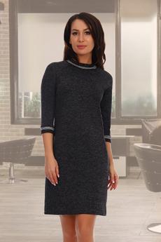 Новинка: черное трикотажное платье с длинным рукавом Натали