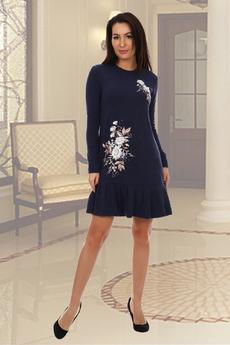 Новинка: темно-синее трикотажное платье Натали