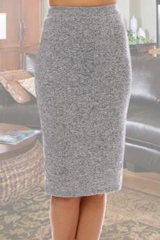 Новинка: серая трикотажная юбка Натали