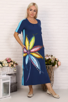 Длинное платье с цветами Натали